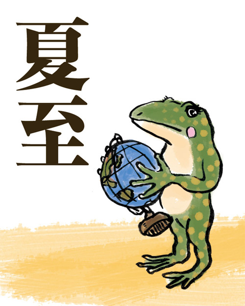 夏至とカエル