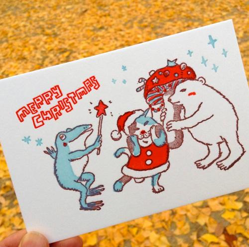 活版印刷クリスマスカード