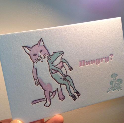 活版印刷カード