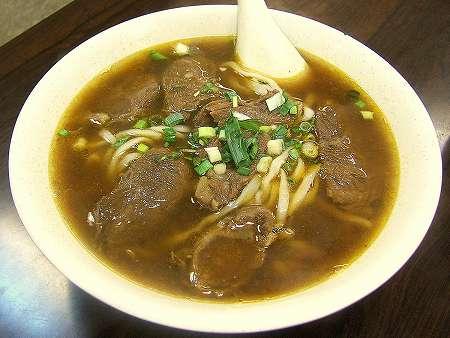 張家清真黄牛肉麺館の紅焼牛肉麺