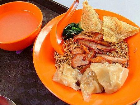 桂花雲呑麺の雲呑麺