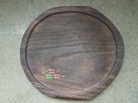 桐干菓子盆 矢絣