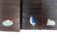 猫 ペンギン うさぎ 蒔絵