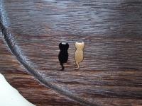 金猫黒猫蒔絵