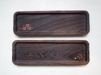 チビトレー細角 矢絣 桜 蒔絵