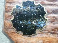 雪銀河 蒔絵 香合 焼き桐