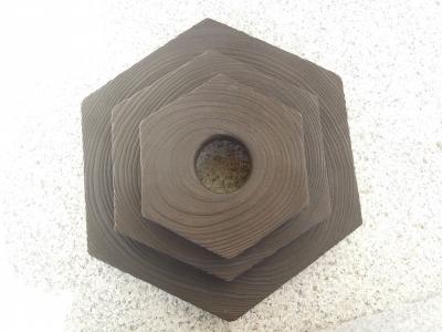 六角なべしき 工芸スノードーム展