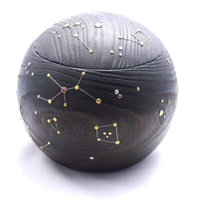 まんまる夏火鉢夜空の星1