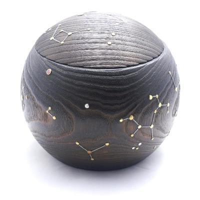 まんまる夏火鉢夜空の星2