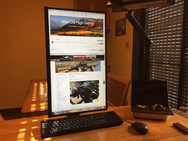 Mac mini 27インチ画面