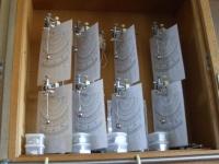 振り子実験器に分度器