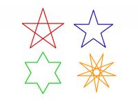 星形を描くプログラム