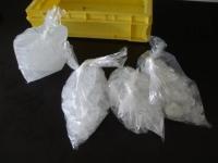 寒剤用の氷の準備