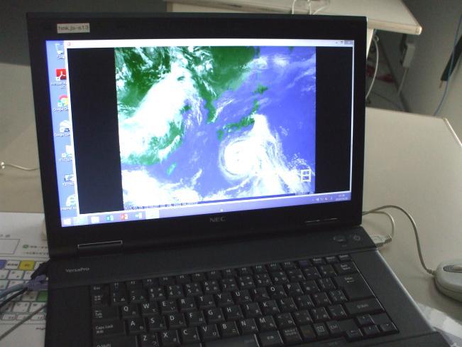 台風の進路動画