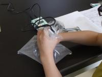 呼気の組成を調べる実験