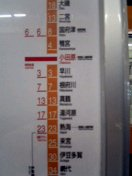駅間時間表