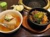 ピビンパと冷麺セット