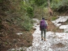 登山道が悪雪で
