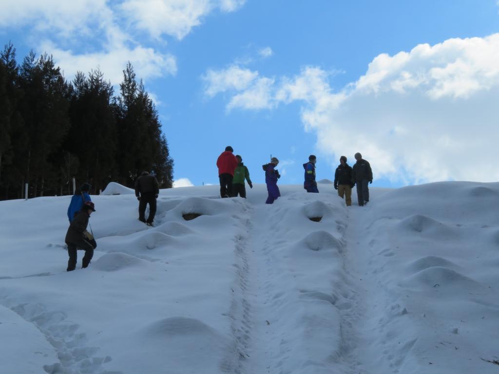 雪の大すり台