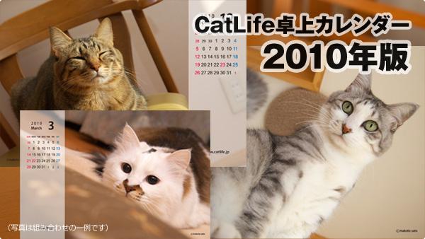 CatLife卓上カレンダー<2010年版>
