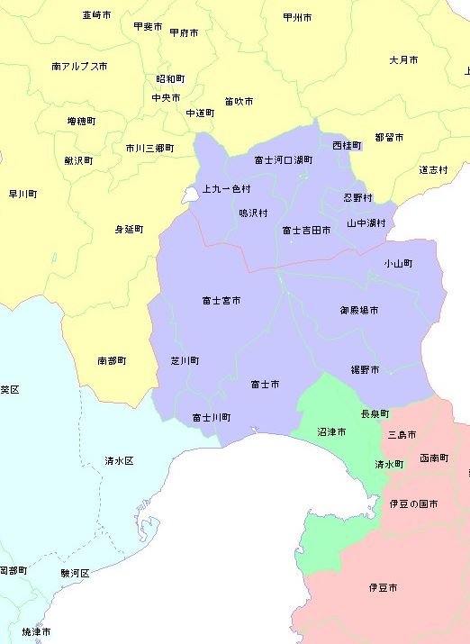 富士山 ナンバー 地域