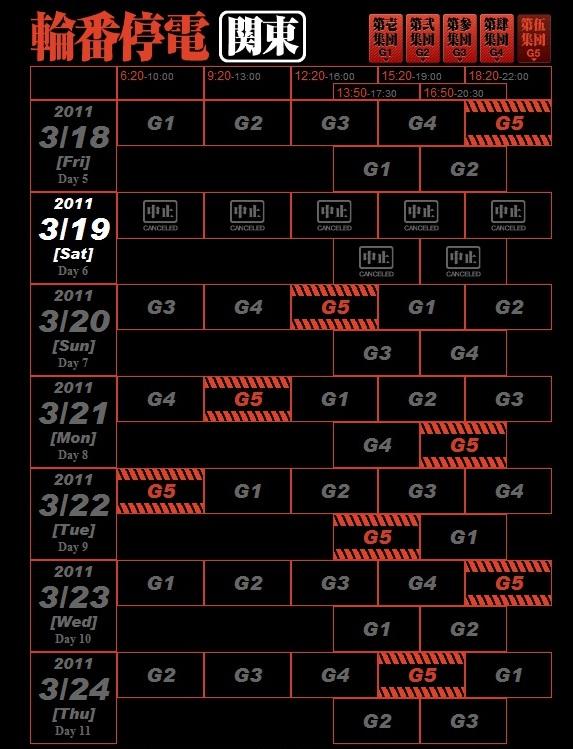 輪番停電(3月19日-24日) | フ...