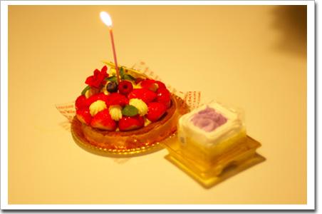 2個のケーキ