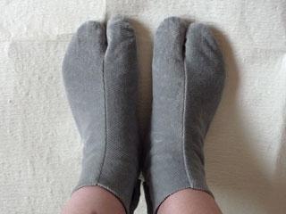 コーデュロイ足袋。