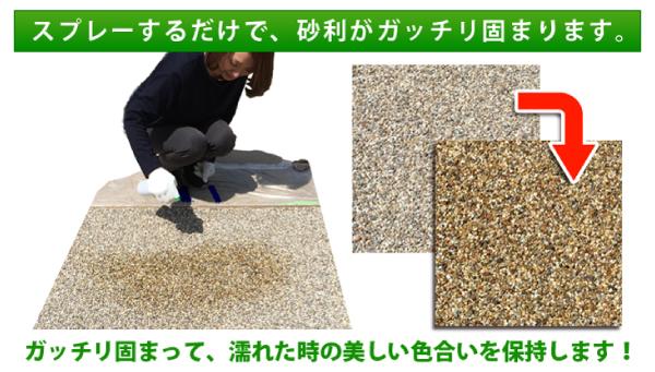 砂利の固め方