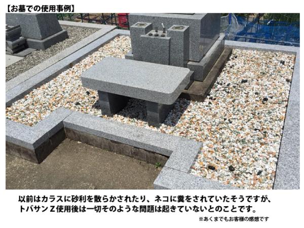 墓場の砂利を固めてネコの糞害対策
