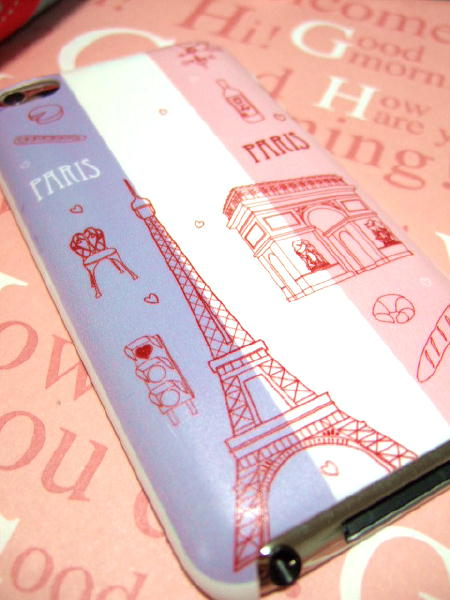 AQUOS PHONE Xx 203SHのフランス・パリのカバー
