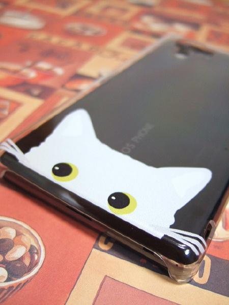 アクオスフォンsiの猫のカバー
