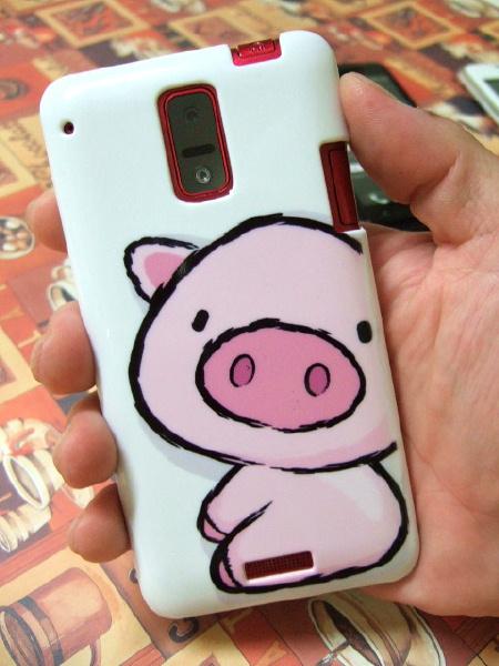 Galaxy S4 SC-04Eのブタちゃんのカバー