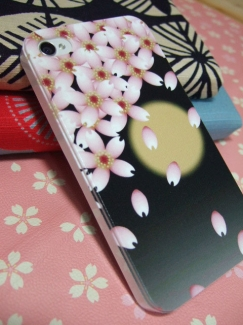 P-03E【カバーdeドコモスマートフォン写真】和風桜柄ケース1