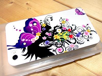 Galaxy S5 SC-04Fのかわいい蝶の妖精のカバー/ケース