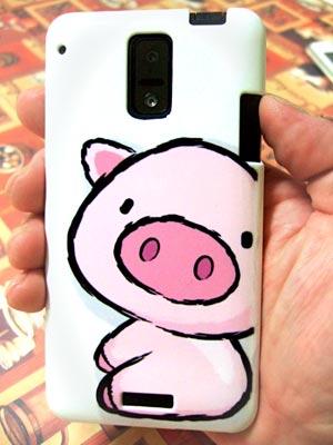 Galaxy S5のかわいい豚(ブタ)ちゃんのケース/カバー