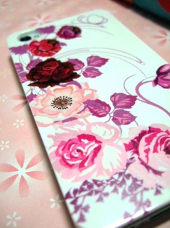 シンプルスマホ2【ケース de ばっちり!スマートフォン写真】薔薇(ばら・バラ・ローズ・ROSE)ケース1