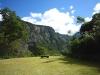 海谷渓谷の岩壁