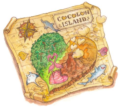 ココロン島地図