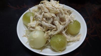 有機栽培のタマネギ料理