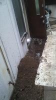 水道管などの掘削作業