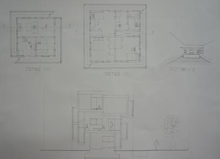 655理科大.2年設計課題「住宅」.JPG