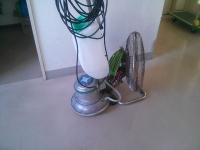 ポリッシャーと送風機
