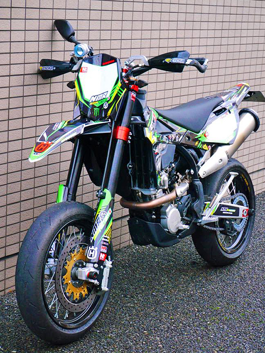 husqvarna TE250R supermoto decal