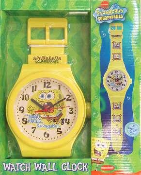 スポンジ・ボブ 腕時計型掛け時計