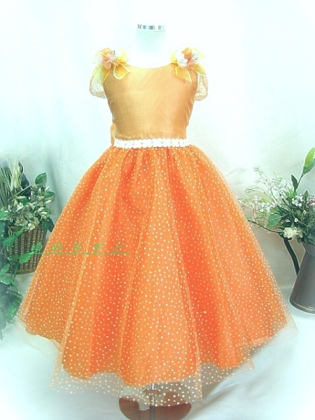 子供ドレスショップ☆ゆめりすと☆フローラ オレンジ