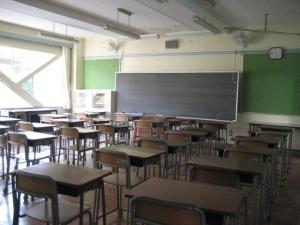 学校 教室 後 AC