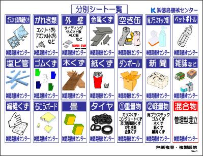 産業廃棄物分別表示シート