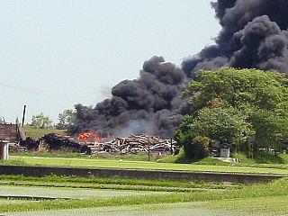 火災の現場写真