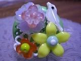 Sphere Drop 小鳥とお花のリング